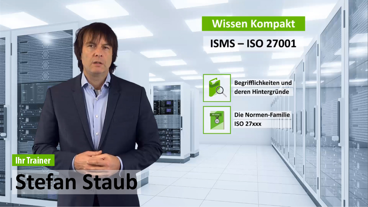 Gratis E-Learning Schulung ISO 27001 - Was ist ein ISMS